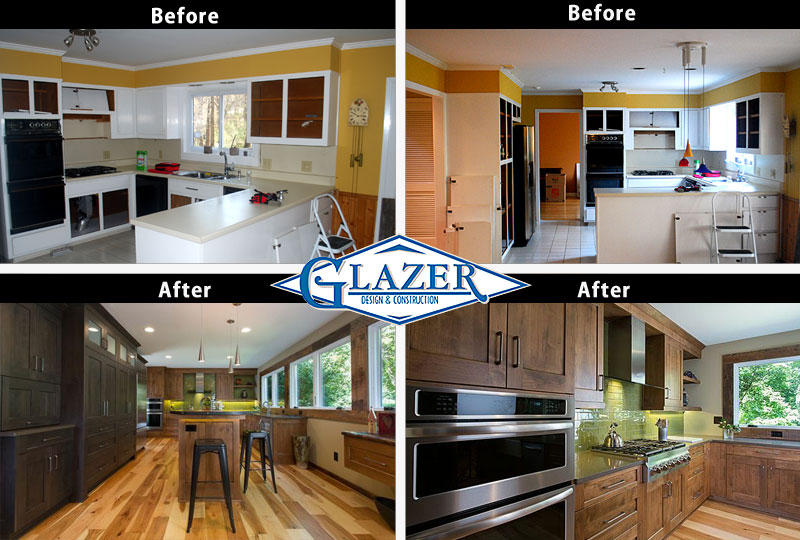 mc collage before after kitchen remodel - Before And After Home Remodel